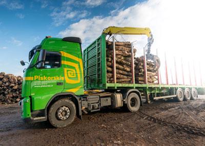 Transport de bois ronds